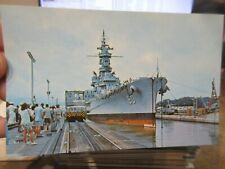 Other Old Postcard Boat Ship Military Battleship Uss Alabama Panama Canal Navy