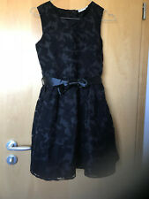 Mädchen Festkleid festliches Kleid Spitze Hochzeit Konfirmation Gr. 146 schwarz
