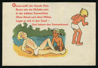 1930s Germany 3rd Reich Picture Postcard Cover Hitler Era Aryan Blonde Boy Humor