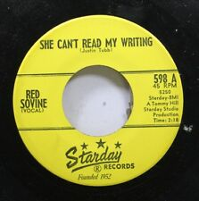 Country Starday Nm! 45 Red Sovine - She Can'T Read My Writing / Rose Of Love On