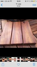 WOODEN DECKING TILES HARDWOOD EXTRA THICK HEAVY DUTY, NON SLIP,OILED EASY TO LAY