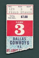 Dallas Cowboys vs. St. Louis Cardinals Ticket Stub 10/4/1970 128450