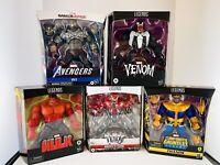 Marvel Legends Lot Of 5 Action Figures Gamerverse Red Hulk Venom Toxin Thanos