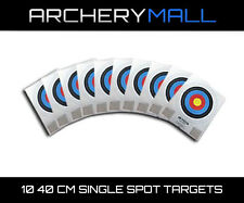 10 Pack of Single Spot Color Archery Paper Target Faces, 10-Rings,40cm (10 pack)