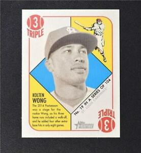 2015 Topps Heritage '51 Collection Mini Blue Back #19 Kolten Wong - NM-MT