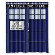 Hot New Custom Doctor Who Police Box Bathroom Fabric Shower Curtain 60x72 inch