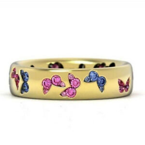 1PC Charming Romance Women Gifts Engagement Jewelry Butterfly Fashion Rings ca