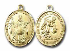 Medal Jesus King of All Nations, Goldtone, Christian Spiritual/Devotional