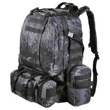 Black Pythons Grain 55L Military Molle Camping Backpack Tactical Hike Travel Bag