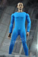 "DIY 1/6th Scale Blue Color Jumpsuit Clothes For 12"" Male Action Figure Doll"