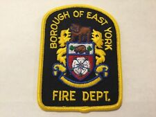Borough of East York Fire Department Patch-Old Ontario,Canada Pre..1998 Toronto