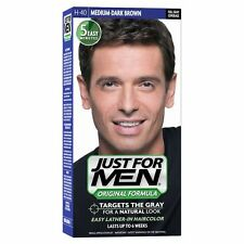 Just for Men Shampoo in Permanent Hair Colour Mens Dye MEDIUM DARK Brown H40
