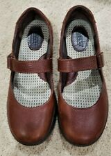 Born brown leather slip on Mary Jane style shoes w/thick sole SZ 7 M