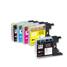5 PK NEW Ink Cartridges for Series LC71 LC75 Brother MFC J625DW J825DW J835DW