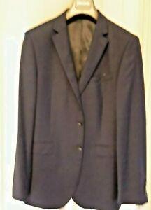 John Lewis Semi Plain Super 100s Travel Suit Jacket Navy Blue 42L New BNWT £140