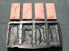 5 Giessformen für 20 Riemchen -Schieferstruktur Nr. 332