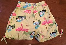 Nick And Nora Kids Size 4T Pink Flamingo And Bbq Shorts Pajamas