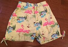 Nick And Nora Kids Size 4T Pink Flamingo And Bbq Shorts Pajamas