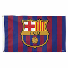 FC BARCELONA 3x5 FLAG BANNER, HOME COLORS, Messi Neymar, Large Size