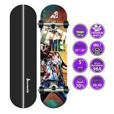 "BLACKHAWK 31x8"" 9Ply Premium Maple Deck ABEC-7 Trick Skateboard Complete Set"