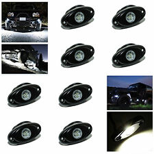 "8x 2"" 9W White Led Rock Light For Jeep Offroad Truck Under Body Trail Rig Light"