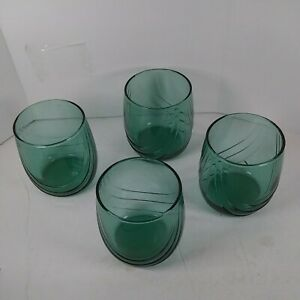 4 Libbey vintage Juice/ Rocks Glasses 10 Oz. (296 ml) Green