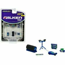 Falken Tires Shop Tool Accessories Workshop Set 6 Pcs 1:64 Greenlight