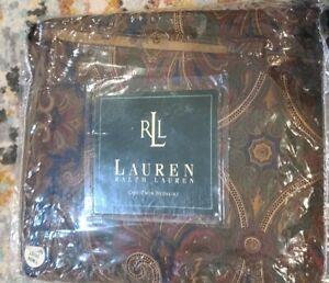 "NEW RALPH LAUREN BRIANNA ELIZABETH Paisley Twin Bedskirt Dust Ruffle 15"" Drop"