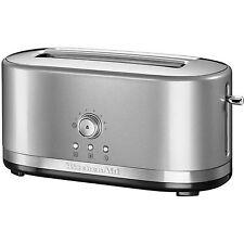 KitchenAid 5KMT4116BCU Artisan Long 4 Slice Toaster - Contour Silver