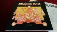 BLACK SABBATH - SABBATH BLOODY SABBATH - ORIGINAL UK LP IN GATEFOLD WITH INNER