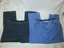 "Lot of 2 Denim & Co Womens Denim Jeans Size 24W P Ins 29"" straight leg Blue NWOT"