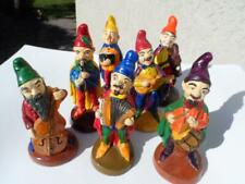Vintage  GNOME  DWARF  HANDPAINTED  ITALIAN  MUSICIANS  Lot  of  7