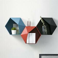 Wall Mounted Hexagonal Display Shelf Box Decorative Storage Organizer Bookshelf