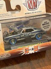 "M2 Machines Chase ""ZAMAC""1969 Chevrolet Camaro ZL-1 Blue Tires 1 Of 252 ""RARE"""