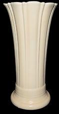 "Homer Laughlin Fiesta Ivory Vintage 10"" Vase --- Original Issue 1936 - 1942"