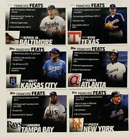 (6) 2019 Topps Franchise Feats Baseball Card Lot Hank Aaron Nolan Ryan