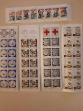 Lot de 5 carnets de timbrestraitant des productions d'art françaises