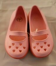 Girls Pink Crocs Airy Hearts Mary Jane Size C 8