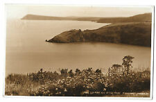 Old Fort & Dinas Head, Fishguard RP PPC, Cardigan 1953 PMK to Wilmslow
