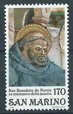 1980 SAN MARINO S. BENEDETTO DA NORCIA MNH ** - ED