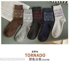 4 Lots pairs men's Comfort WOOL Socks Soft Warm new year Christmas gift SALE