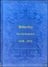 Genealogy - Bitterley Parish Registers (Shropshire)