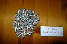"Solid Aluminium Rivets 3/16"" dia * 9/16""  long x50 Landrover Series 302816"