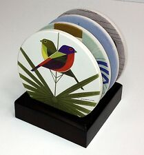 Charles/Charley Harper Love Birds Absorbent Stone Coaster Set