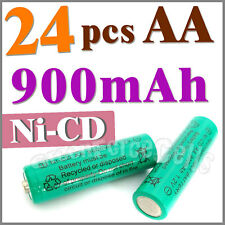 24 AA Ni-Cad Cd Solar Light rechargeable battery Green