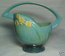 ROSEVILLE POTTERY, WINCRAFT, VERY LOVEY BLUE BASKET~~~~