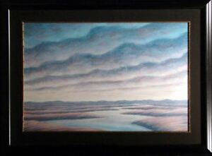 Scott Nellis Clouds Original Pastel framed HAND SIGNED FINED ART SUBMIT OFFER!