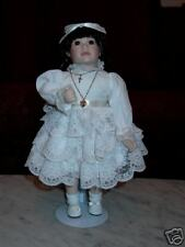 First Communion Porcelain Doll & Display Stand
