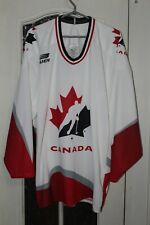 Canada National Team Ice Hockey Bauer White shirt jersey trikot