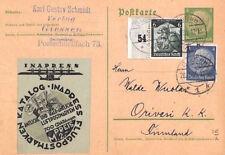 BN98 1935 Germany FLUGPOSTMARKEN KATALOG Advert Label Giessen Card AVIATION AIR